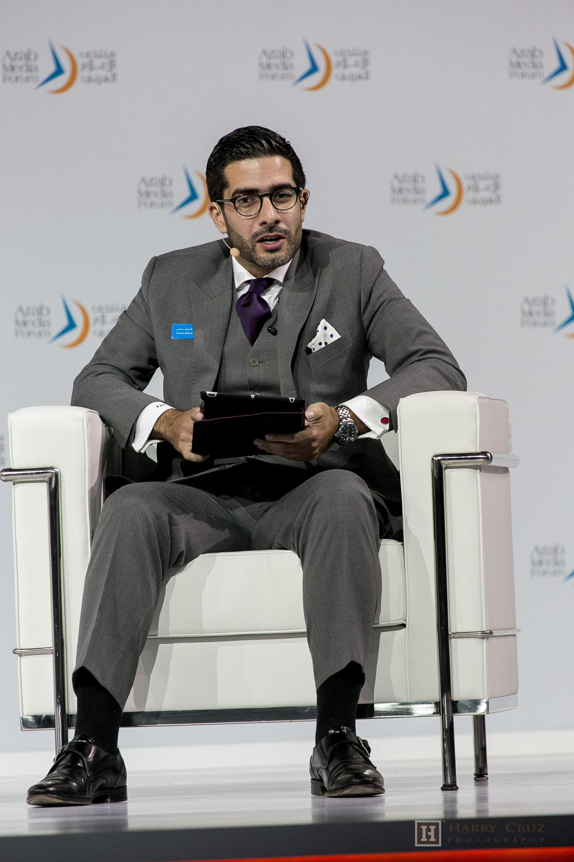 Faisal J. Abbas during the Arab Media Forum in 2015