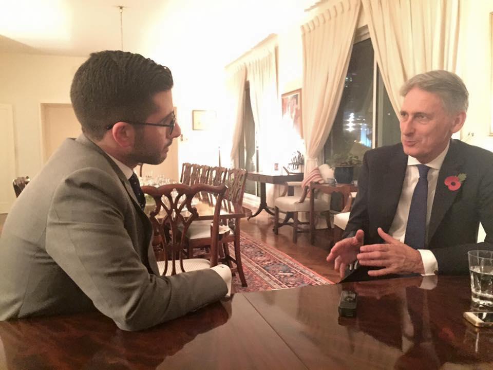 Faisal J. Abbas interviews British FM Phillip Hammond