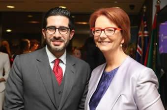 Faisal J. Abbas meets former Australian PM Julia Gillard
