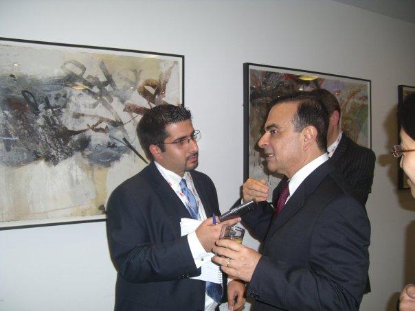 Faisal J. Abbas interviews Nissan's CEO Carlos Ghosn in London, 2008