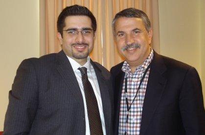 Faisal J. Abbas with Thomas Friedman in 2008