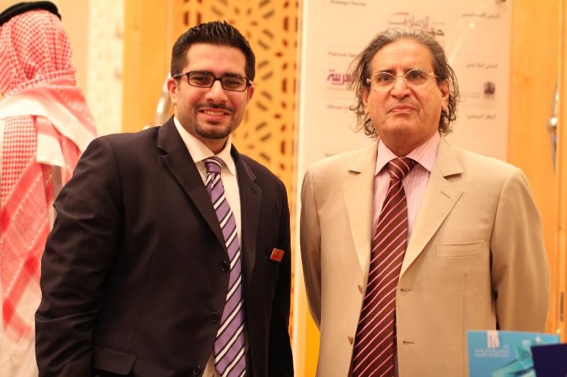 Faisal J. Abbas with Othman Al Omeir