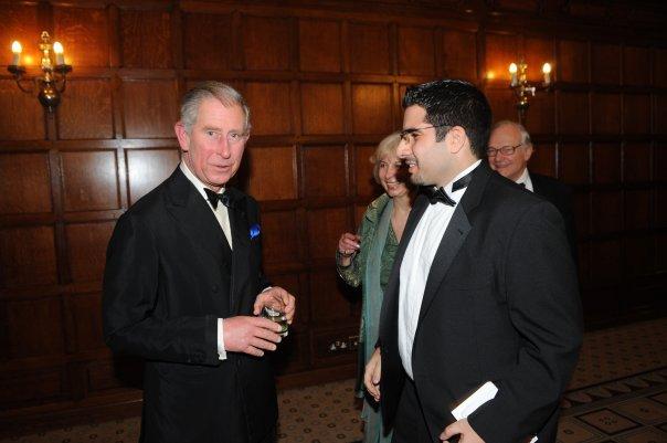 Faisal J. Abbas with Prince Charles, Prince of Wales
