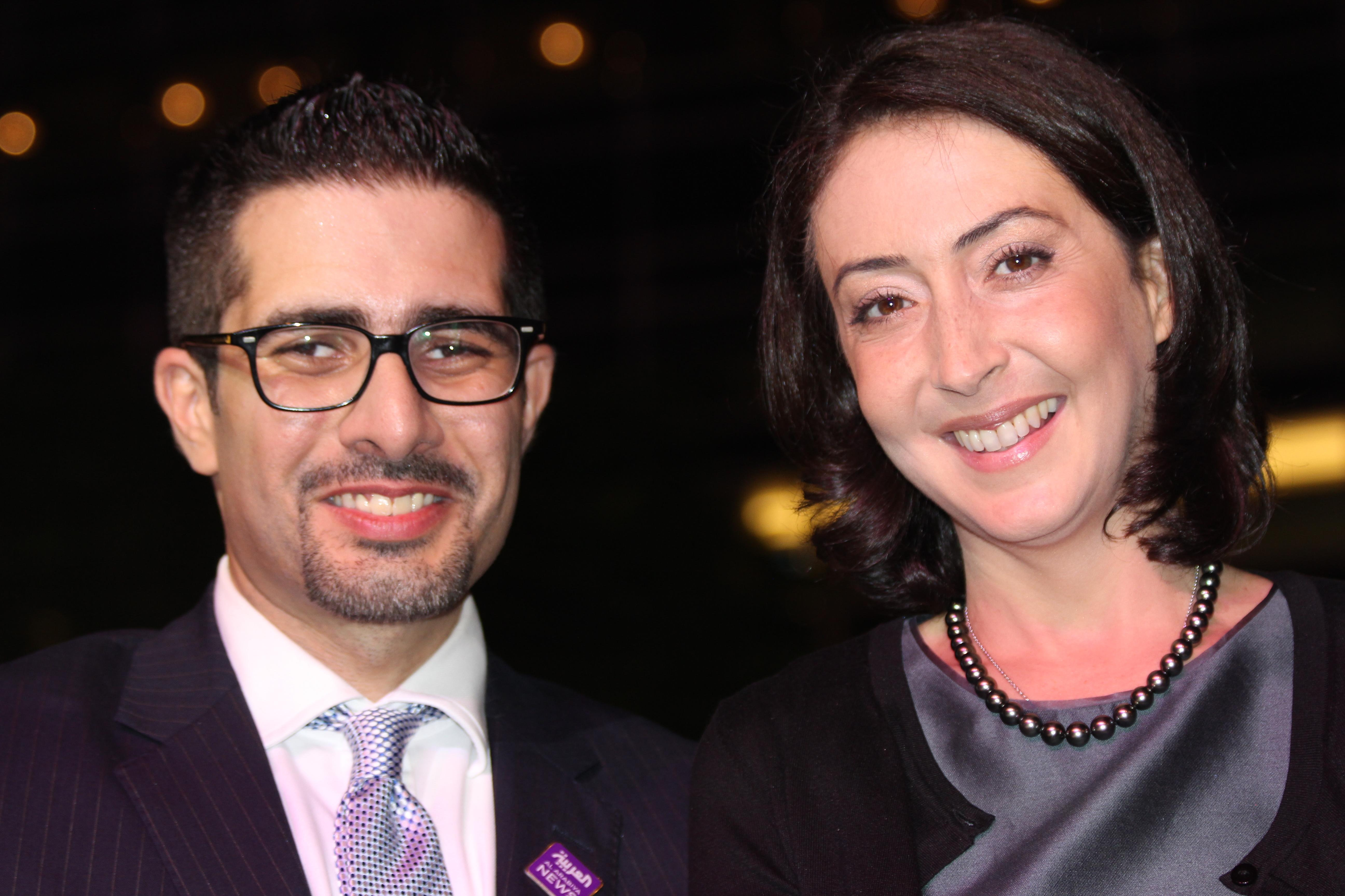 Faisal J. Abbas meets HRH Princess Rym Ali, founder of the Jordan Media Institute