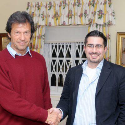 Faisal J. Abbas with Imran Khan, 2008