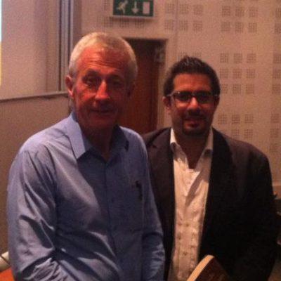 Faisal J. Abbas with famous British biographer Robert Lacey