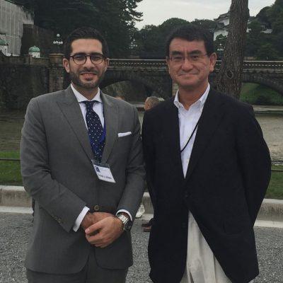 Faisal J. Abbas and Japanese MP Taro Kono