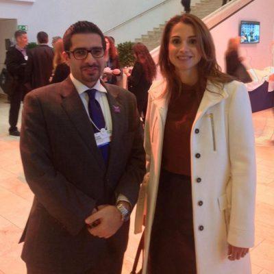 Faisal J. Abbas with HM Queen Rania Al-Abdullah of Jordan