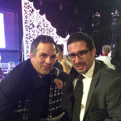 Faisal J. Abbas with 'The Avengers' actor Mark Ruffalo